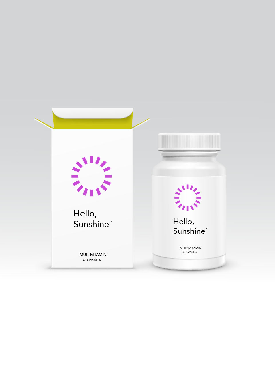 multivitamin package design